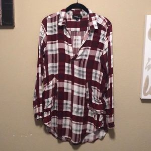 Plaid Tunic style top